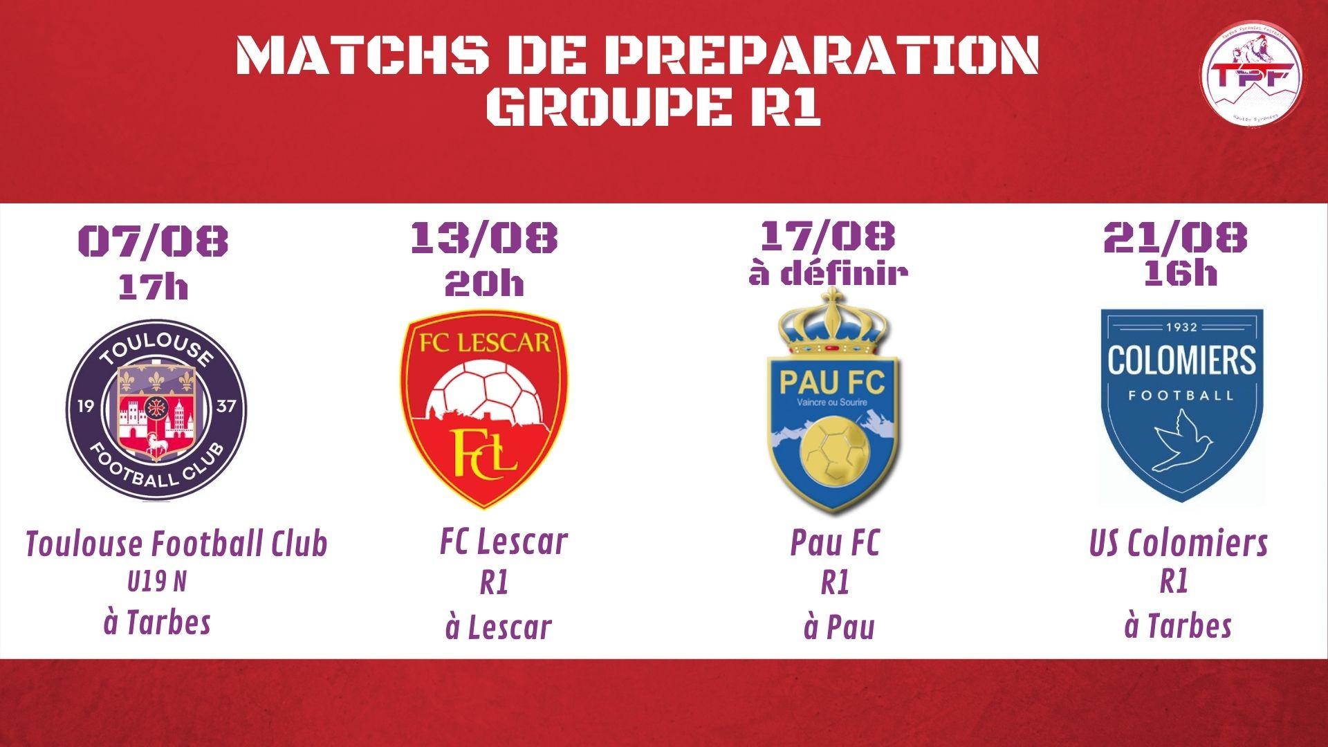 Club : Le programme des matchs de préparation